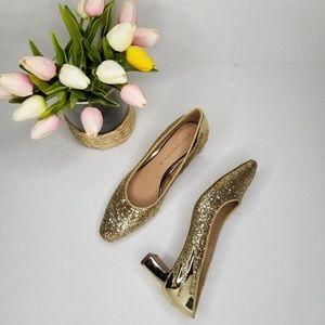 NWOT Zara TRF Size 6 Sparkly Heels